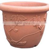 artificial morden italian plastic rattan wicker round flower pot liners