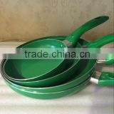 Aluminum Nonstick Pressed /Forged Green Ceramic Coating Colored Frying Pan Pizza Pan Egg Pan