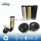 See larger image Double wall stainless steel leakproof coffee cup with plastic cover ,travel mug , drinkware , straight body sh