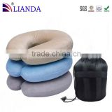 Direct from the manufacturer self-inflating travel pillow,easy comfort snap travel pillows 2-in-1,micro beads travel pillow