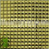 "0.8"" gold color cube stainless steel mosaic tile for metal mosaic home hotel villa wall decoration MI08 as mosaic wholesale"