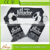 Wholesale products high quality custom oem soccer football club jacquard acrylic knitted scarf