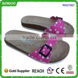 Buy china cork slippers for girls supplier PU upper cork slippers