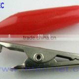 Jumper Wires Alligator Crocodile Roach Test Clip Plastic Handles Crocodile clips 35mm red color I00093