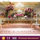 hotel gold stainless steel mirror glass top wedding dining table                                                                         Quality Choice