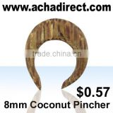Body piercing jewelry,organic body jewelry pincher made of coconut wood (from Bali-Indonesia), price starts from US$ 0.57/ piece