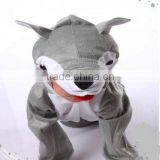 Children's cartoon clothes/costume stuffed animal costume show,Unisex Kids Plush Animal Jumpsuit Costume,Gray Wolf Onesie