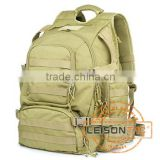 Tactical Backpack with Molle System/ 1000D high strength waterproof and flame retardant nylon fabric