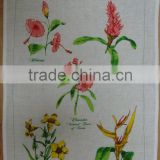 silkscreen printed tea towel kitchen linen teatowel printed for sales &home decoration-3