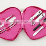 Heart shape cute manicure and pedicure sets