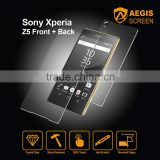 Tempered glass screen protector air conditioner installation accessories for sony xperia z5 front+ back