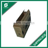 FLEXO PRINTING E FLUTE DISPOSABLE CORRUGATED SHIPPING CARTONS OEM PAPER PACKING BOXES FOR POOP BAGS