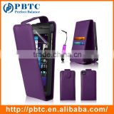 Set Screen Protector Stylus And Case For Blackberry Z10 , Purple Leather Wallet Best Selling Phone Case