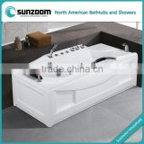 SUNZOOM cUPC corner tub shower combo,jetted tub shower combo,abs bathtub