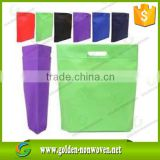 die cutting pp nonwoven bags/Cheap price ultrasonic sealed die cut non woven shopping bag