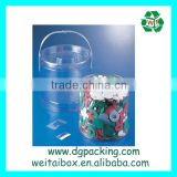 Plastic clear PVC PP PET cylinder tube packaging box with handle                                                                         Quality Choice