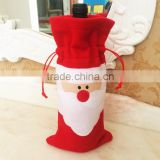 Red Wine Bottle Cover Bags Christmas Dinner Table Party Decoration Decors                                                                         Quality Choice