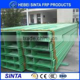 FRP ladder covered cable tray/ FRP Electric Cable Bridge of Ladder type with cover plate