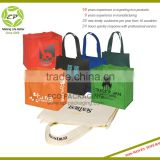 Custom High Quality Enviro-shopper Non Woven Tote Bag With Matching Covered Cardboard Bottom Insert