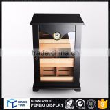 Top design portable wooden cigar display cabinet