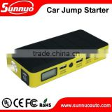 portable power bank charger 14000 mah car jump starter with solar panel for charging in the sun optional