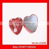 small heart shape gifts or cosmetic metal tin box