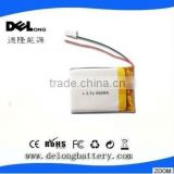 053040 500mah rechargeable 3.7v li-polymer battery