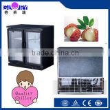 2 glass door mini beer bottle commercial refrigerator display cabinet , bar beer display fridge wine cooler electronic chiller