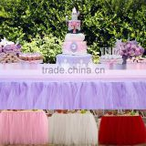 wholesale cheap DIY Polyester tulle table skirt for party