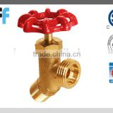 "1/2""-- 3/4""Pipe and hose threads Angle Brass Stop Valve with CSA certificated"