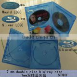 11mm bluray dvd case double with Print Blu-ray logo
