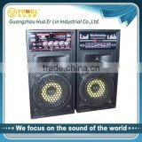 professional amplified able design big power support OEM home theater speaker system wooden speaker box