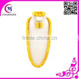 fashion big fashion jewelry set amber bead necklace with high quality african beads jewelry set