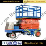 Chinese supplier popular cheap price self-propelled small scissor lift hydraulic cylinders drive motor