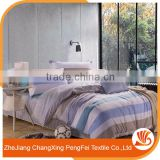 Common blue color print bed sheet in stock