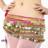 Sparkling Three Rows 338 Coins Belly Dance Costumes Hip Scarf Belly Dance Belt Waist Chain YL1002