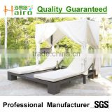 All weather outdoor lounge chair with canopy