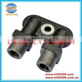 Air A/C Compressor Fitting Adapter Vertical O-Ring for ZEXEL TM13/15/16 Compressors Without Service Port