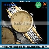FS FLOWER - Grade Mens Watch Japan Movt Quartz Stainless Steel Case Back 5 Water Resistant