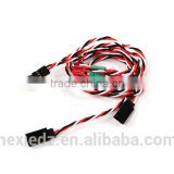 Wing Servo Connector 2xMale /2x Female Futaba to MPX charge cable twist servo wire harness