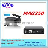 iptv mag250 with hd cable wifi adapter CAt5 optional IN STOCK mag250 iptv UK EU US PLUG mag 250 iptv box