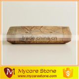 Natural brown marble soap dishes and tray 15*12*3cm
