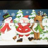 pp placemat with Christmas design printed plastic placemat tabel mat