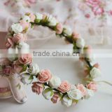 EVA PE Rose Flower Head Wreath Garland For Wedding Prom Party And Christmas Decoration