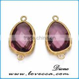 Wholesale fashion jewelry thailand women glass teardrop pendant