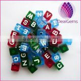 Wholesale 2014 new oblate acrylic alphabet beads for bracelets