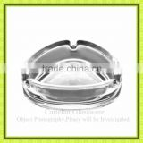 Transparent triangle shaped glass ashtray,glass terrarium for cigarette smoking,for hotel family office