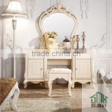 French Style HA-913# Bedroom Furniture Wall Mounted Dressing Table White Dressing Table Designs For Bedroom
