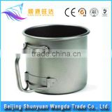 Outdoor Titanium Camping Mug Titanium Cup Water Kettle Foldable Water Bottle