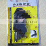 Allen Key The Hot Sales and The Low Price and The High Quality HKB9001 9PCS Hex Key Wrench Set/ Hand Tool